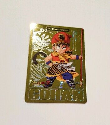 Carte Dragon Ball Z Spécial Gohan Gold Card carddass special