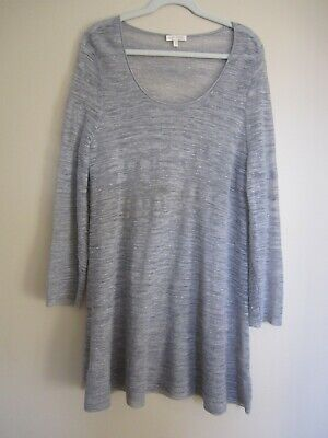 LARGE NWT EILEEN FISHER SUBST ORGANIC LINEN JERSEY SCOOP NECK TANK DRESS