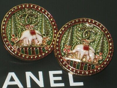 CHANEL 2 pretty buttons  24mm gold metal  cc logo, 2 pc
