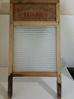 Vintage National Washboard Co. No. 512 Glass washboard