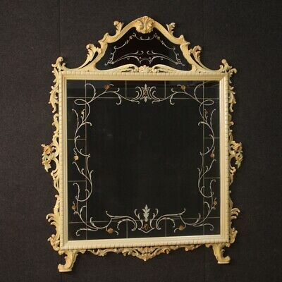 Large Mirror Wooden Lacquered Mirrors Painted Furniture Mirror Antique Style