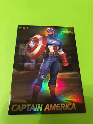 Marvel Contest of Champions #08 Captain America Card RARE FOIL- Dave and Busters