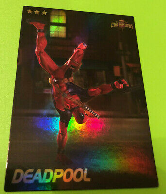 Marvel Contest of Champions #17 Deadpool Card- RARE FOIL