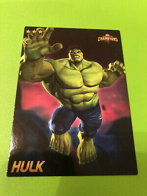 Marvel Contest of Champions #34 Hulk Card- RARE non-FOIL- Dave and Busters
