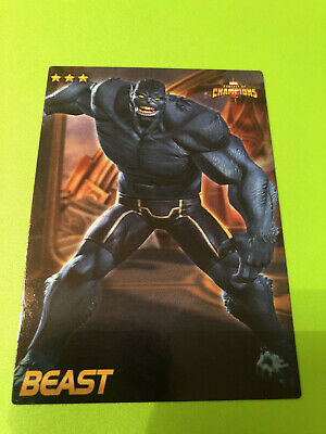 Marvel Contest of Champions #04 Beast Card- RARE non-FOIL