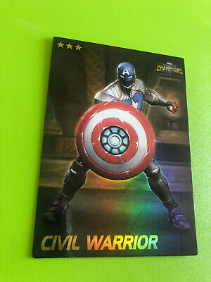 Marvel Contest of Champions #12 Civil Warrior Card- RARE FOIL- Dave and Busters