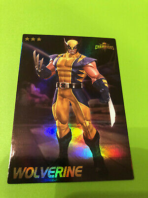 Marvel Contest of Champions #72 Wolverine Card RARE FOIL- Dave and Busters