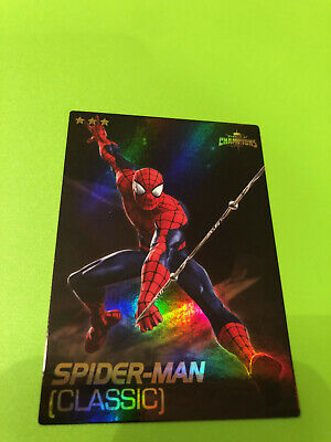 Marvel Contest of Champions #60 Spider-Man Card- RARE FOIL- Dave and Busters