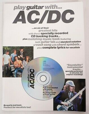 Play Guitar with AC-DC 1999, CD Paperback Songbook Sheet Music Song Book