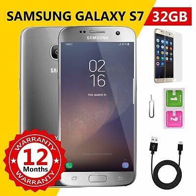 Like New 100% GENUINE Samsung Galaxy S7 32GB SMG930 Unlocked Smartphone Silver