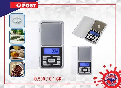 Accurate high Precision 500g 0.01 Electronic Digital Pocket Jewellery Scales new