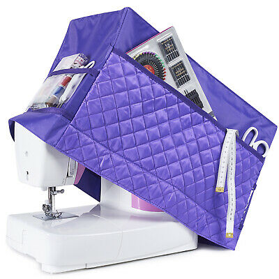 Sewing Machine Dust Cover for Most Standard Singer & Brother Machines (Purple)