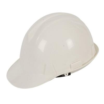 Silverline Light Weight Adjustable Harness CE Marked White Safety Hard Hat