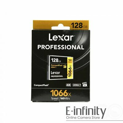 NEW Lexar 128GB Professional 1066x Compact Flash Memory Card 160 MB/s