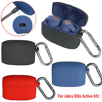 For Jabra Elite Active 65t Earphone Full Protection Silicone Case Cover Pouch