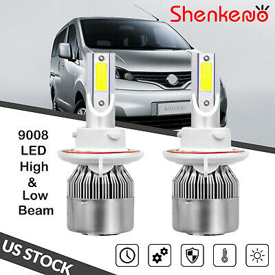 Fits Nissan NV200 White 4-LED Xenon Bright ICE Side Light Beam Bulbs