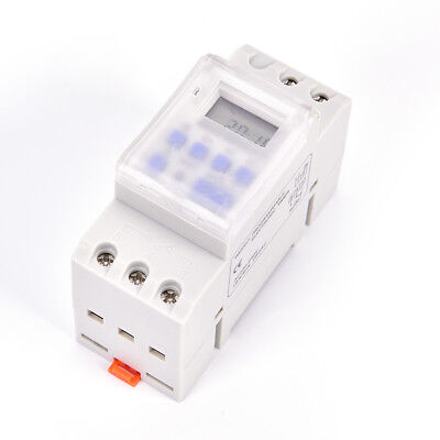 THC15A AC 220V Digital LCD DIN Programmable Weekly Rail Timer Time Relay^Swit qx