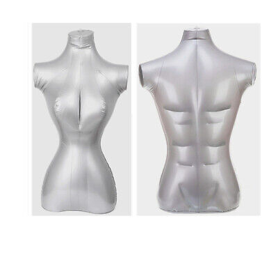 Male Female Inflatable Model Dummy Torso Body Mannequin Armless Display