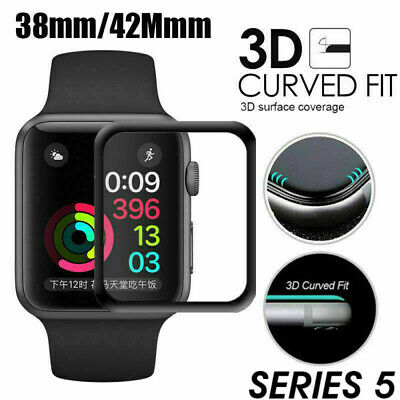3D Tempered Glass Screen Protector For Apple Watch 38 42 44mm iWatch Series 5 4