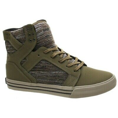 SUPRA NEW Mens Skytop Shoes Olive Multi//Sage BNWT
