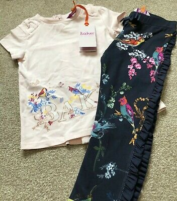 Ted Baker Girl Top Leggings Age 2-3 Set Brand New With Tags Pegasus Bird