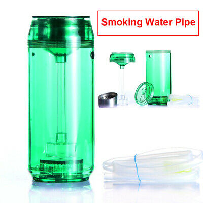 Glass Hookah 19cm Water Smoking Pipe Large Acrylic Tobacco Smoke Bowl Bong