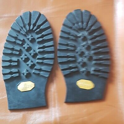 Black Men Montana Half Rubber Soles Commando Style Shoe Repairs Cobblers