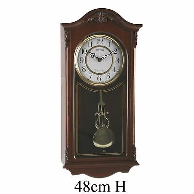 Rhythm Wooden Antique  Wall Clock Hour Strike/West Chime/Arch Top
