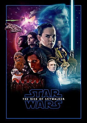 STAR WARS RISE OF SKYWALKER Poster | A4 A3 & A3+ Sizes Laminated | HD Print Film