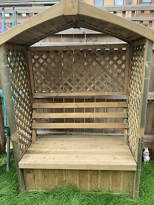 Outstanding Garden Wooden Pergola Arbour Seat With Storage Outdoor Pdpeps Interior Chair Design Pdpepsorg