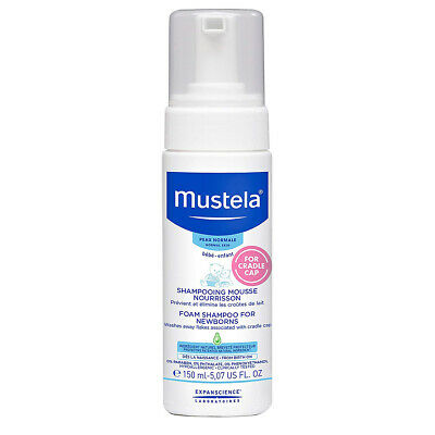 Mustela normal skin newborn foam shampoo washes flakes with cradle cap 150 ml