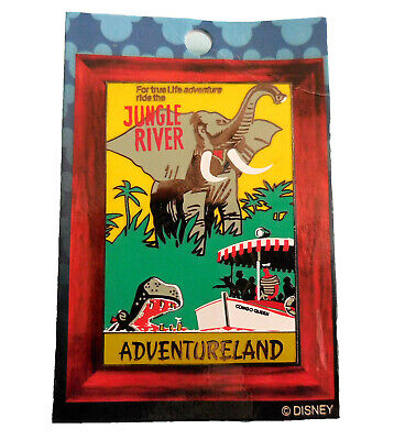 Disney Collector Pin 2003 Jungle Cruise Disneyland Attraction Poster LE 1500
