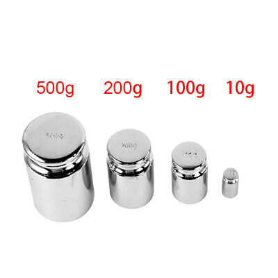 10g 100g 200g 500g For Weigh Scale Silver Calibration Weight Chrome Plating Gram