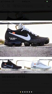 NIKE Off White And Vapormax...new In Box Made In China ...