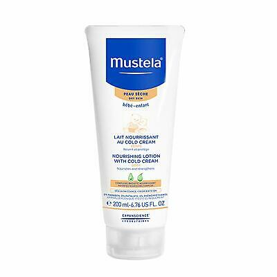 Mustela baby dry skin care nourishing body lotion with cold cream 200 ml