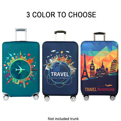 Scratchproof Elastic Luggage Cover Anti Dust Thickened Travel Printed Washable