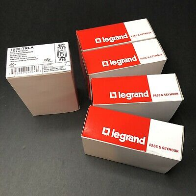5-Pack Legrand Pass Seymour 1595TRLA Tamper Resistant GFCI in LIGHT ALMOND (A)