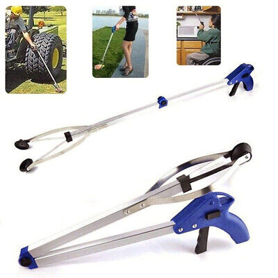 Foldable Garbage Pick Up Tool Grabber Reacher Stick Reaching Grab Claw Grip