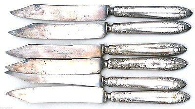 Antique Silver Knives Benedict MFG Co  6 1850-1899 Silverplate