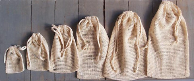 Cheesecloth Mesh Bags With Drawstring Premium Quality (12 Pack)