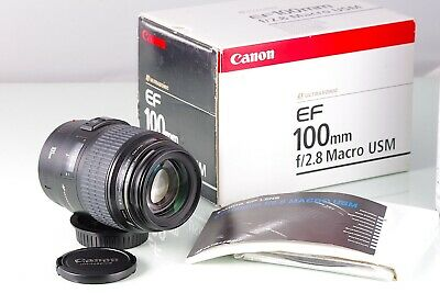 CANON EF USM MACRO 100mm F2.8 AS NEW IN BOX FOR EOS SYSTEM ULTRASONIC