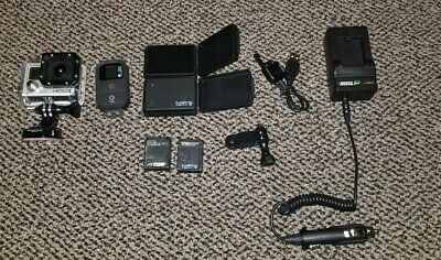 GoPro Hero3 Camera + Accessories 2 Batteries LCD Touch Screen Remote BacPac