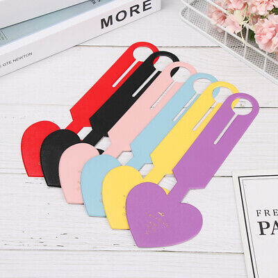 Heart Shapes Leather Suitcase Luggage Tag Baggage Boarding Portable Label