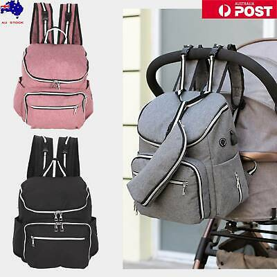 Waterproof Large Mummy Nappy Diaper Bag Baby Travel Changing Nursing Backpack AU