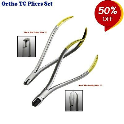 Orthodontic Pliers Distal End & Hard Wire Cutters TC