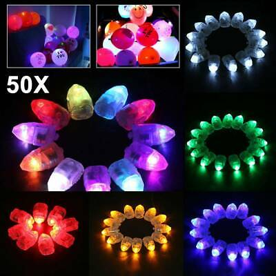 50x LED Balloon Lights Paper Lantern Light Balloons Glow in dark Christmas Party