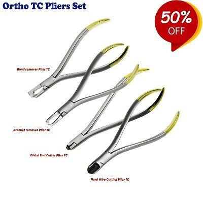 Orthodontic Pliers & Cutters Hard Wire Cuttings Bracket Band Removing TC inserts