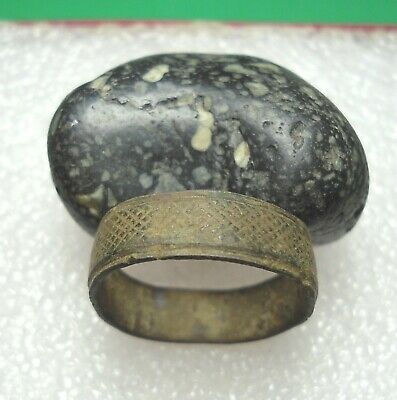 Ancient Roman Bronze Ring Original Authentic Antique Rare R787