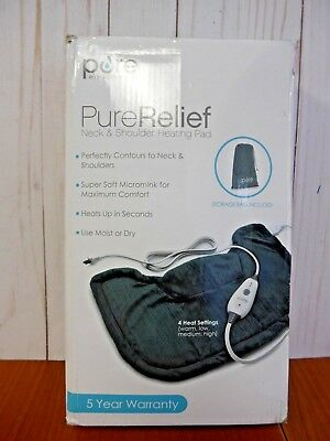 Pure Relief Neck & Shoulder Heating Pad with Storage Bag (XK138)