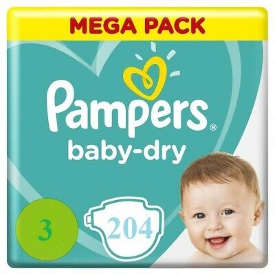 Couche NAPPY PANTS pampers baby dry mega pack 92 couches bébé  TAILLE 3  6-11Kg